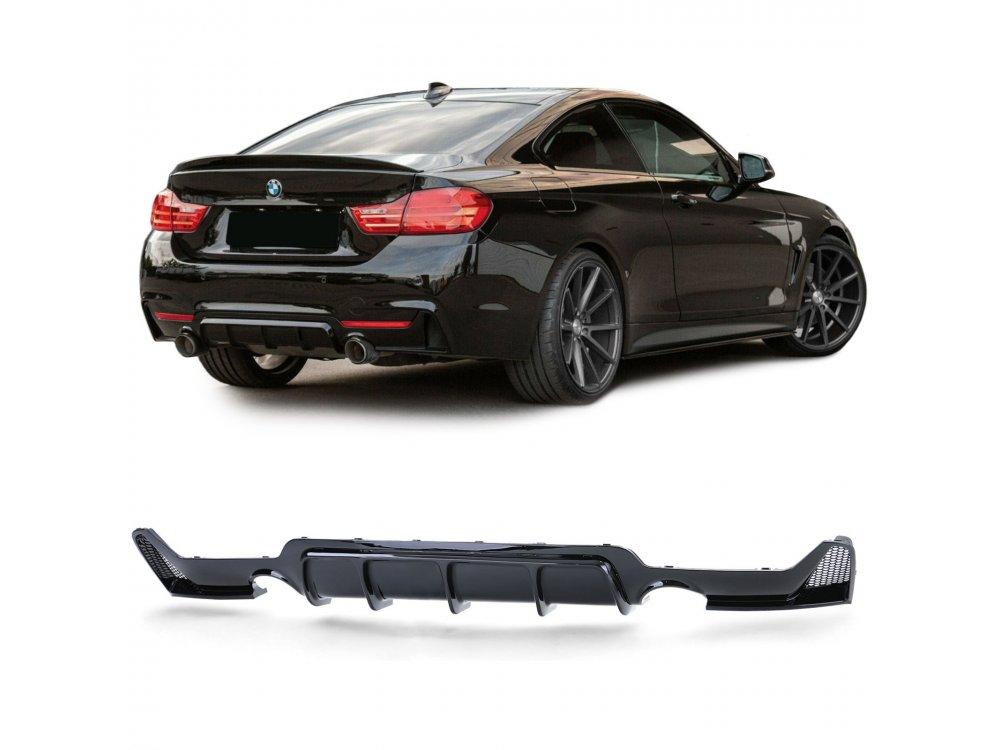 Диффузор заднего бампера под 2-1 выхлоп в стиле M-Performance для BMW 4 F32 / F36