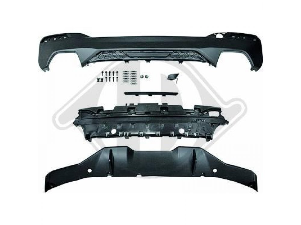 Диффузор заднего бампера M-Performance Look под 2 двойные трубы от HD на BMW 5 G30