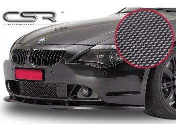 Накладка переднего бампера Carbon Look CSR Automotive на BMW 6 E63