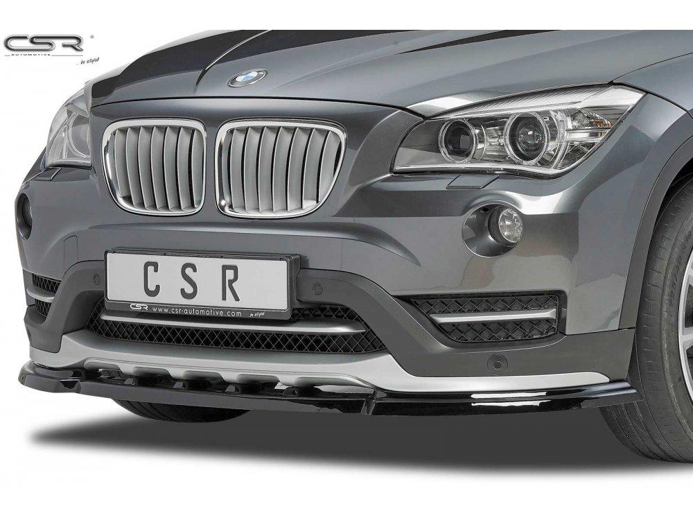 Накладка на передний бампер Glossy Black от CSR на BMW X1 E84 рестайл