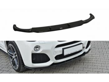 Накладка на передний бампер центральная от Maxton Design для BMW X4 F26 M-Paket