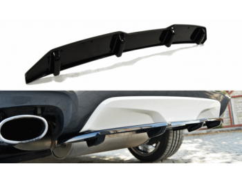 Накладка на задний бампер центральная от Maxton Design Var2 для BMW X4 F26 M-Paket