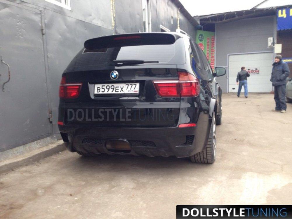 Бампер задний Hamann Evo без расширения для BMW X5 E70