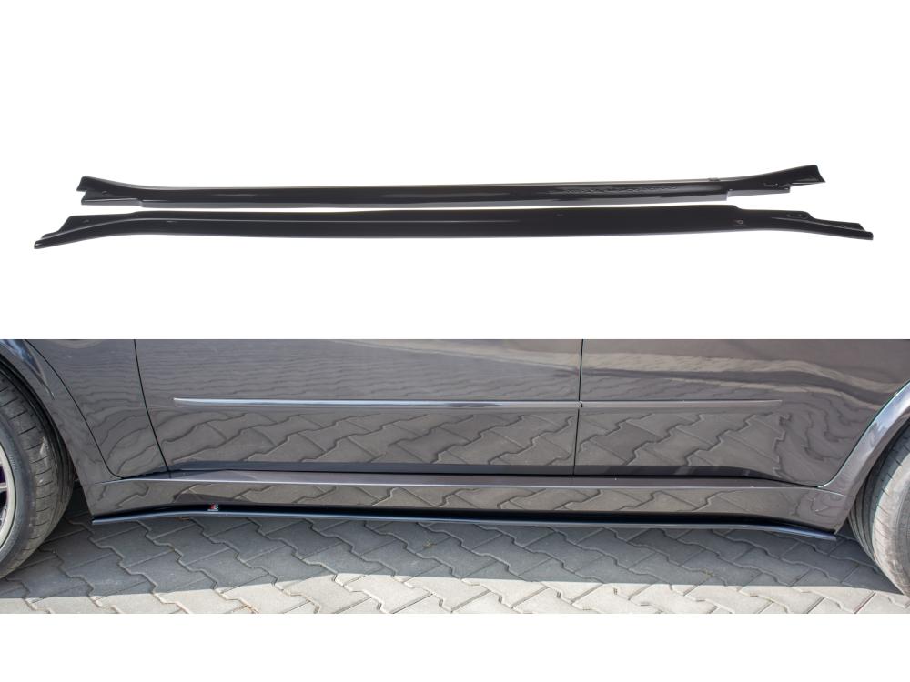 Сплиттеры для порогов от Maxton Design на BMW X5 E70 M-Pack рестайл