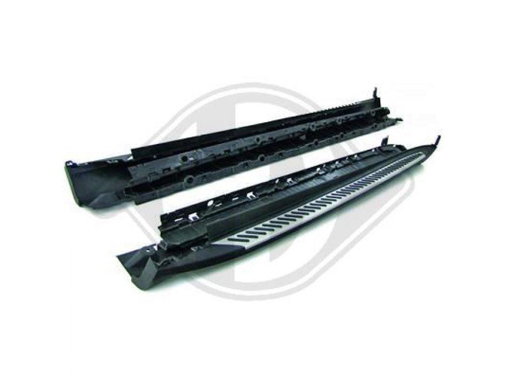 Накладки на пороги металлические от HD на BMW X5 F15