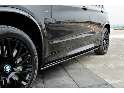 Сплиттеры для порогов от Maxton Design на BMW X5 F15 M50d