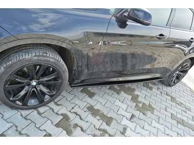 Сплиттеры для порогов от Maxton Design на BMW X6 F16 M-Pack