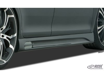 Накладки на пороги GT-Race от RDX Racedesign на Chevrolet Aveo II