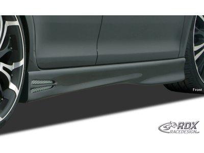 Накладки на пороги GT4 от RDX на Citroen DS3