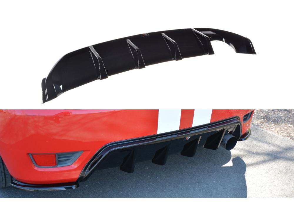 Диффузор заднего бампера от Maxton Design на Ford Fiesta VI ST
