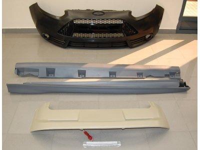 Комплект обвеса в стиле ST от Eurolineas на Ford Focus III (АБС пластик)