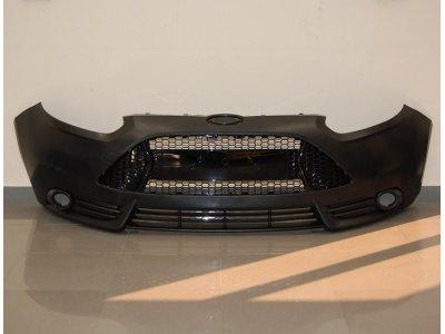 Бампер передний в стиле ST от Eurolineas на Ford Focus III (АБС пластик)