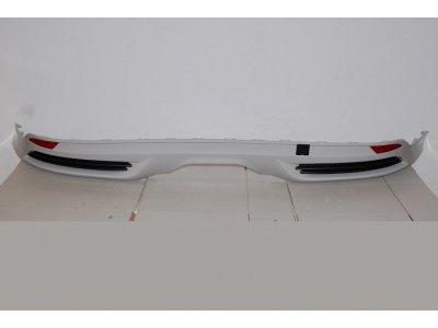 Накладка заднего бампера в стиле ST от Eurolineas на Ford Focus III (АБС пластик)