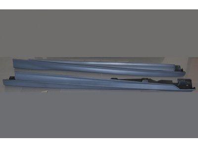 Накладки порогов в стиле ST от Eurolineas на Ford Focus III (АБС пластик)