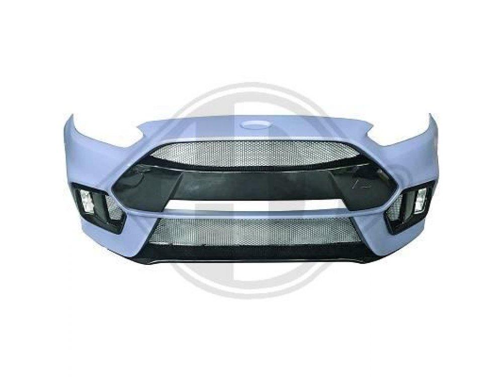 Бампер передний в стиле RS от HD для Ford Focus III рестайл