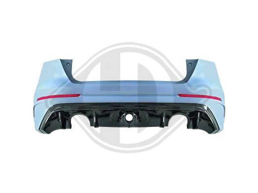 Бампер задний в стиле RS от HD для Ford Focus III рестайл