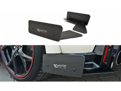 Боковые накладки на задний бампер Var2 от Maxton Design для Honda Civic X Type R