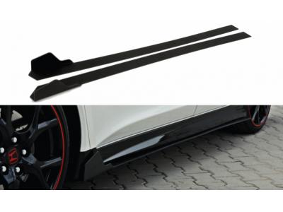 Накладки на пороги Var2 от Maxton Design для Honda Civic X Type R