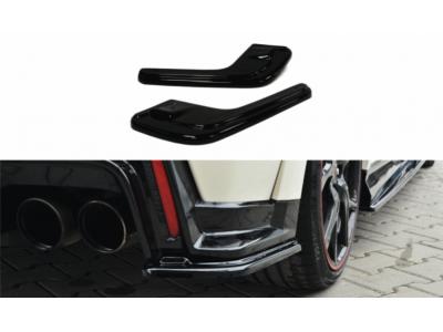 Боковые накладки на задний бампер от Maxton Design для Honda Civic X Type R