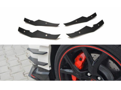 Боковые накладки на передний бампер от Maxton Design для Honda Civic X Type R