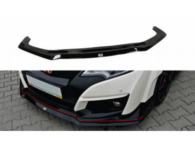 Накладка на передний бампер от Maxton Design для Honda Civic X Type R