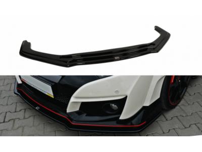 Накладка на передний бампер Var2 от Maxton Design для Honda Civic X Type R