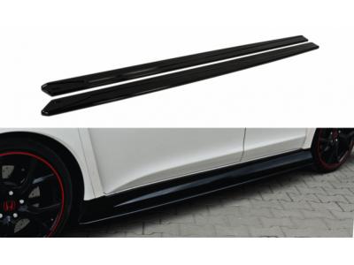 Накладки на пороги от Maxton Design для Honda Civic X Type R
