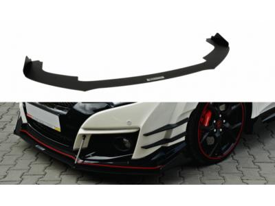 Накладка на передний бампер V3 от Maxton Design для Honda Civic X Type R