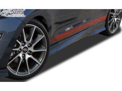 Накладки на пороги Turbo от RDX Racedesign на Hyundai i30 Coupe