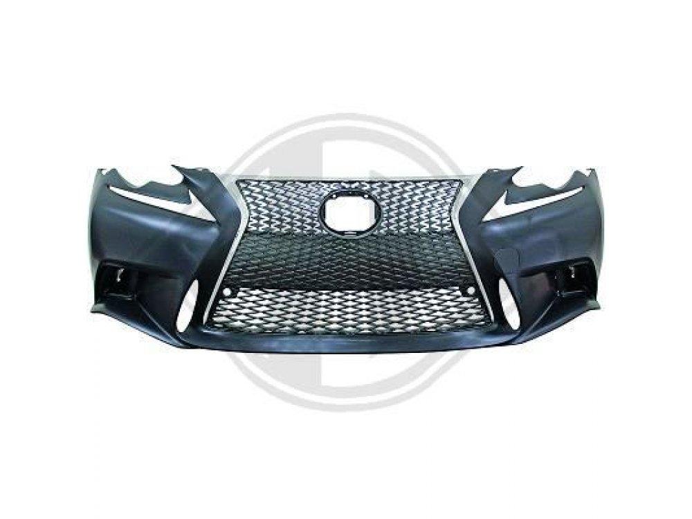 Бампер передний F Sport Look под датчики парковки и омыватели от HD на Lexus IS III