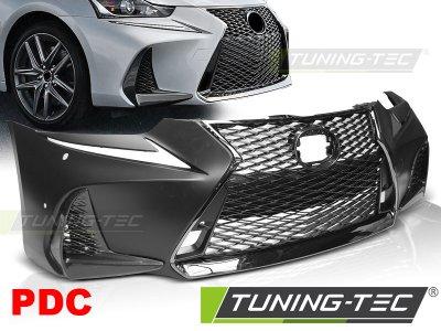 Бампер передний F Sport Look под датчики парковки от Tuning-Tec на Lexus IS III рестайл