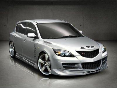 Накладки на пороги Inferno от Maxton Design для Mazda 3 BK