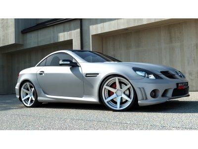 Комплект обвеса AMG W204 Look от Maxton Design на Mercedes SLK класс R171
