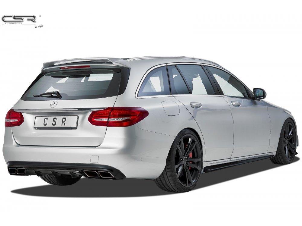 Диффузор заднего бампера C63 AMG Look от CSR на Mercedes C класс W205