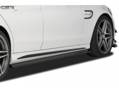 Накладки на пороги от CSR на Mercedes C класс W205