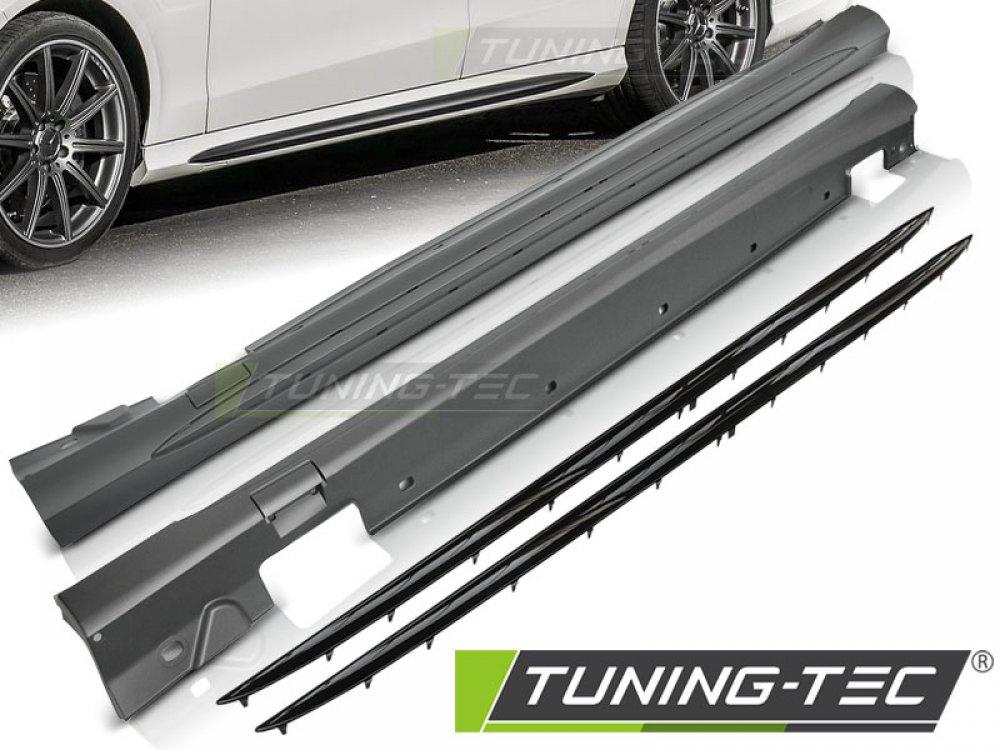 Накладки порогов в стиле AMG 6.3 от Tuning-Tec на Mercedes E класс W212 рестайл