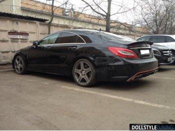 Накладки на пороги Prior-Design PD550 Black Edition для Mercedes CLS W218 (реплика)