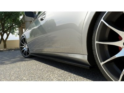 Накладки порогов от Maxton Design для Mercedes CLS W219