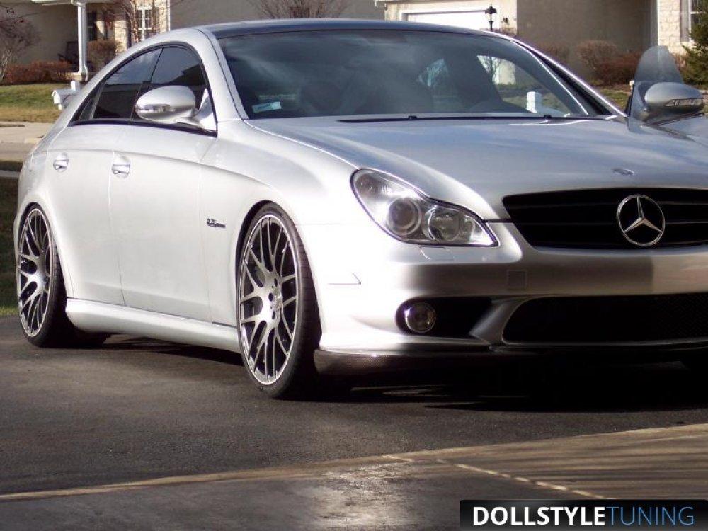 Накладки на пороги AMG на Mercedes CLS класс W219