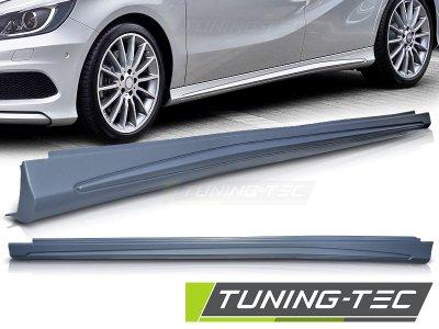 Накладки порогов в стиле AMG 4.5 от Tuning-Tec на Mercedes A класс W176