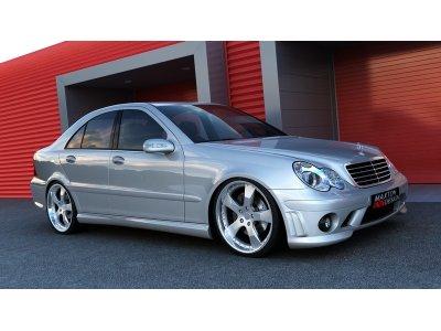Бампер передний от Maxton Design в стиле AMG C63 для Mercedes C класс W203