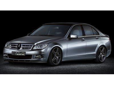 Накладка на передний бампер MAXTON Design для Mercedes C класс W204