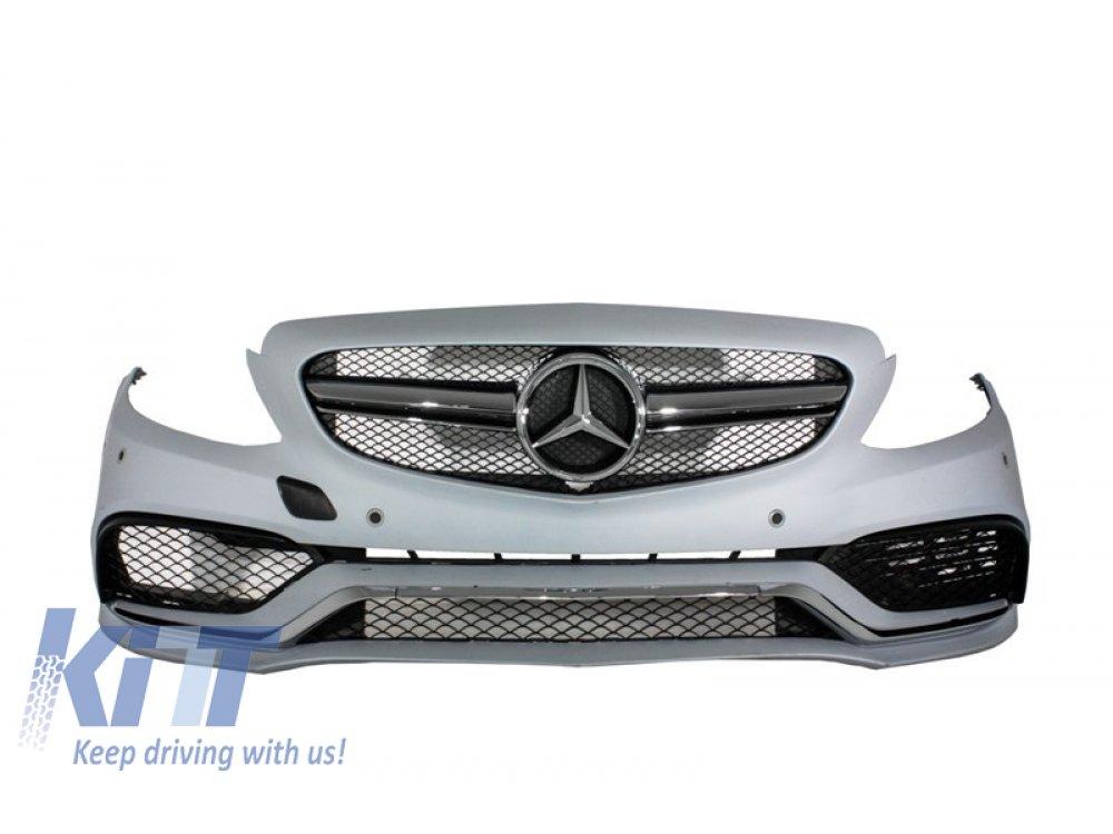Бампер передний в стиле AMG C63 от KITT на Mercedes C класс W205