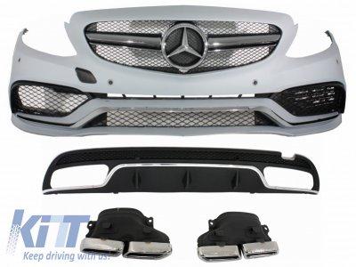 Комплект обвеса в стиле AMG C63 от KITT на Mercedes C класс W205