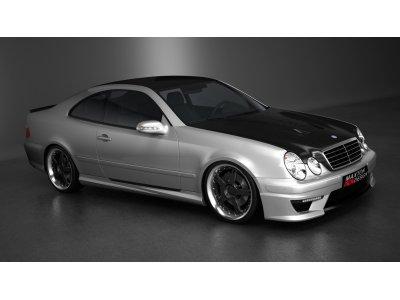 Накладки на пороги в стиле AMG от Maxton Design на Mercedes CLK класс W208