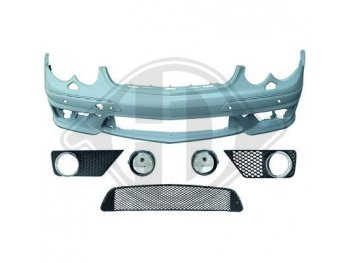 Бампер передний в стиле AMG CLK63 на Mercedes CLK класс W209