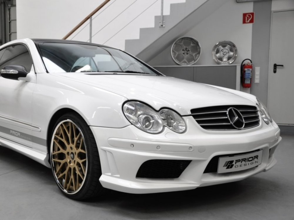 Бампер передний Prior-Design CLK PD на Mercedes CLK W209 (реплика)