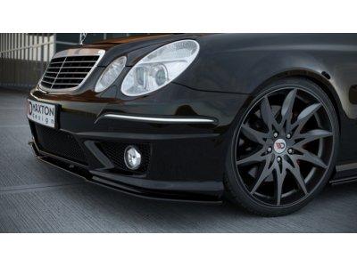 Накладка на передний бампер AMG 6.3 от Maxton Design для Mercedes E класс W211