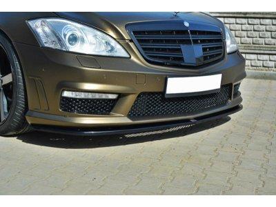 Накладка переднего бампера от MAXTON Design для Mercedes S класс W221 AMG
