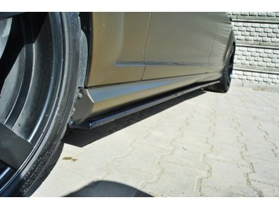 Накладки на пороги MAXTON Design для Mercedes S класс W221 AMG